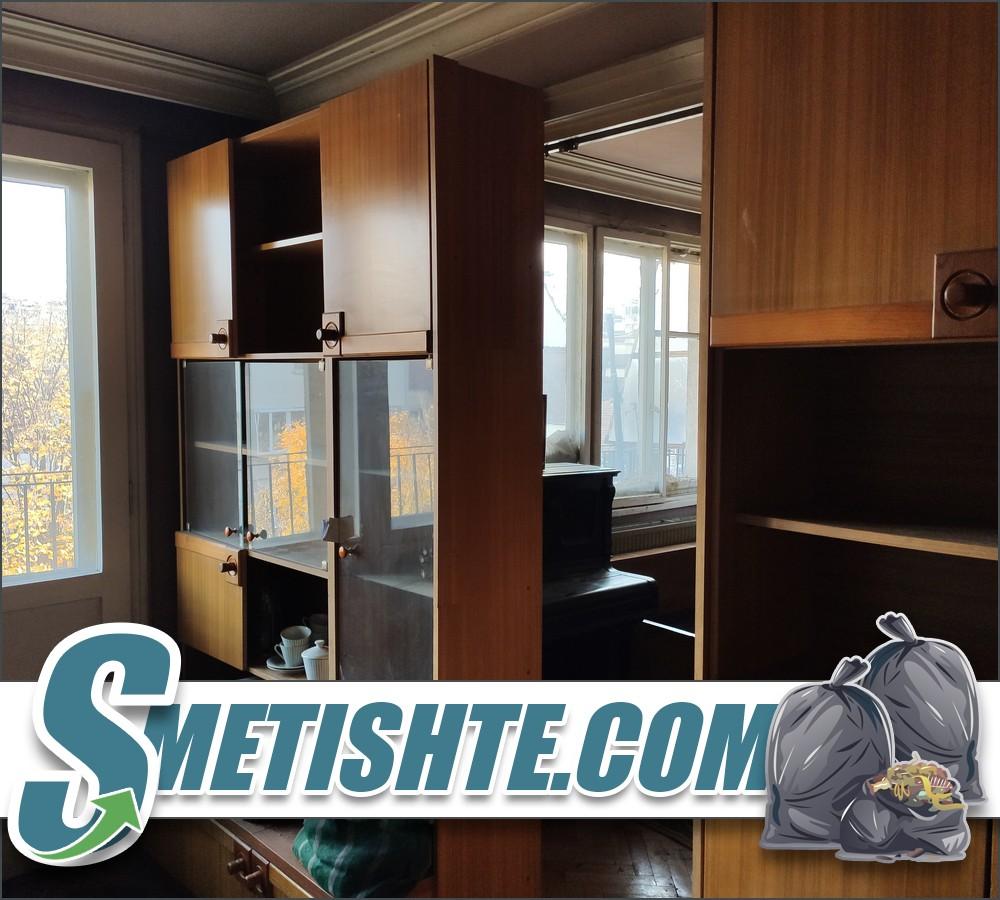 Почистване на апартамент с хамали за извозване на мебели и боклук
