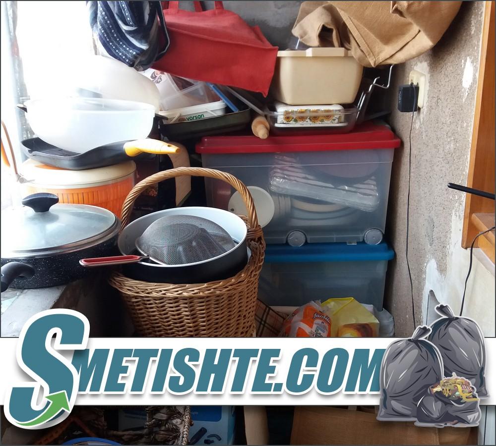 Почистване на апартамент с боклуци