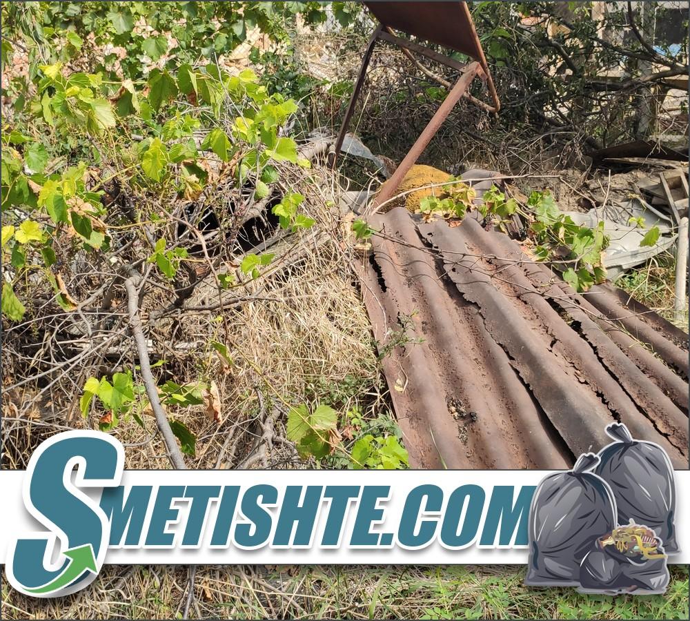 Косене на трева рязане на храсти и почистване на терен с отпадъци