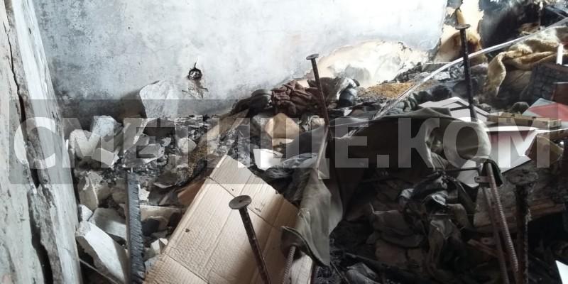 Изхвърляне на строителни отпадъци след пожар